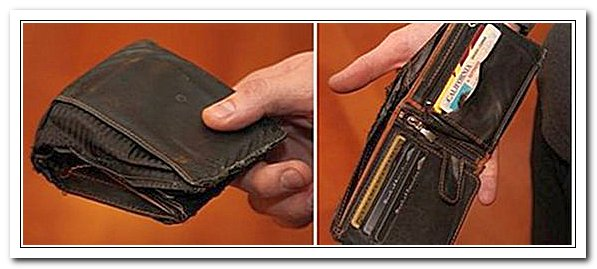 Потренный бумажник