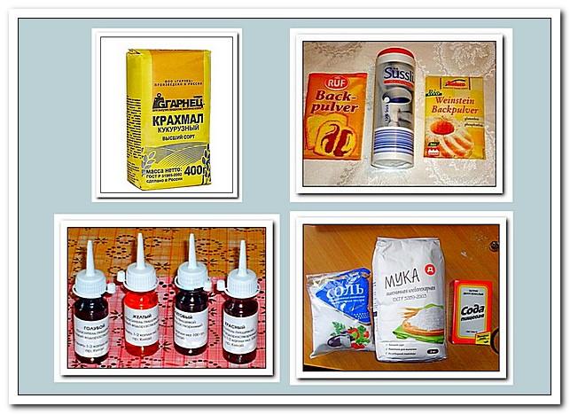 Ингредиенты пластилина