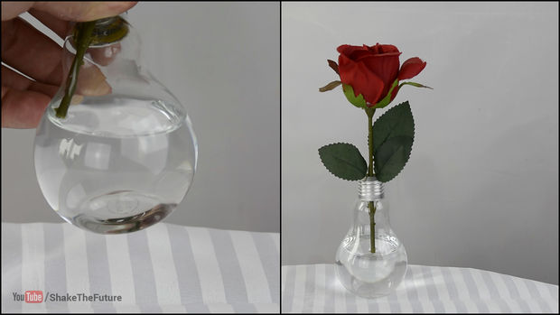 Flat Bottom - Light Bulb Vase