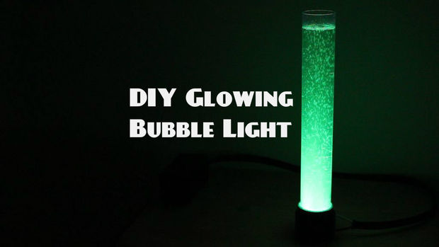 DIY GLOWING BUBBLE LIGHT - How to Make Your Own Futuristic Desk Light!
