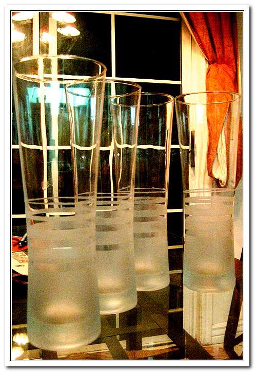 Матированные стаканы