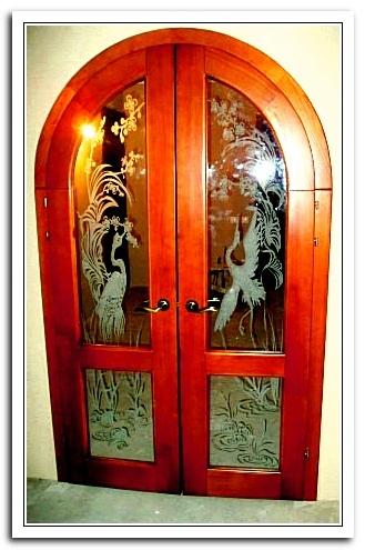 Матирование двери