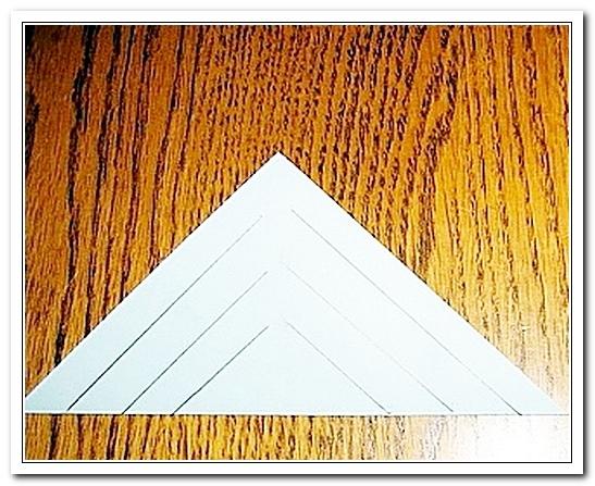 Треугольник с разрезами