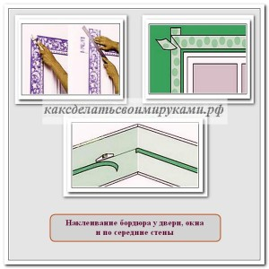 Наклейка бордюров