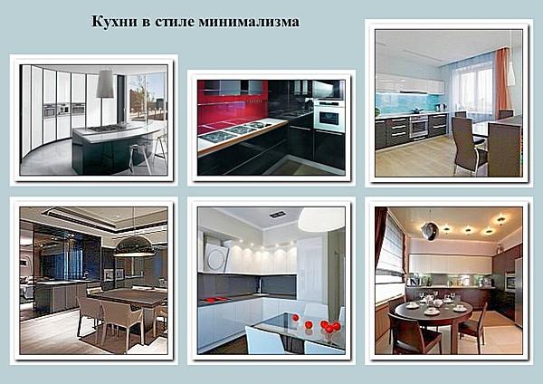 Кухни в стиле минимализма