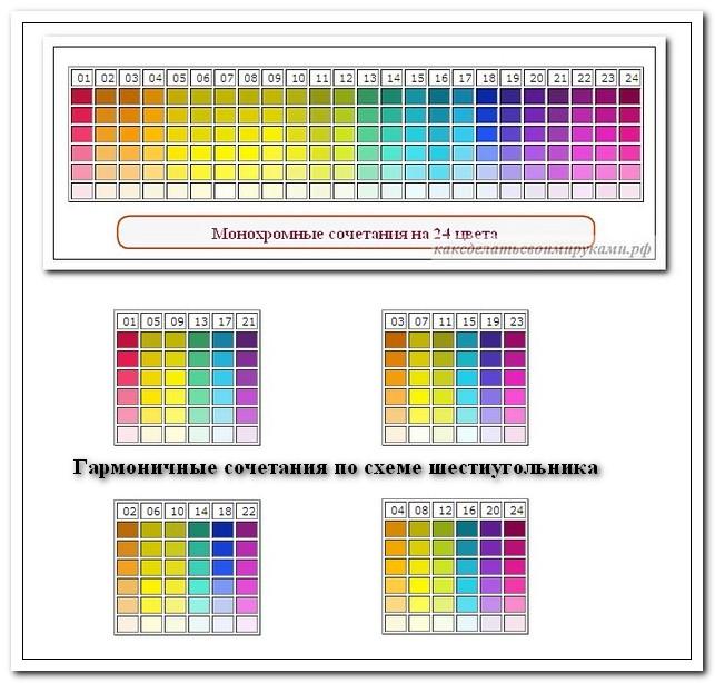 Планшеты на 6 цветов для круга на 24