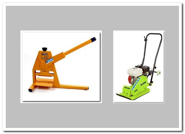 Инструменты для мощения кирпичей