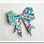 Бантик в технике оригами