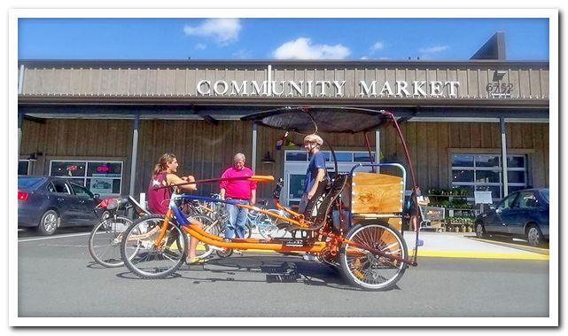 Грузовой тандемный велосипед