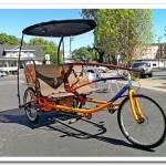 Трехколесный тандемный велосипед
