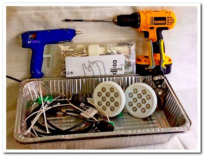 Требуемые материалы, инструменты и светильники