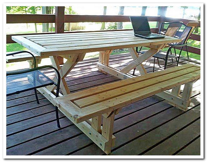 Готовый стол для пикника