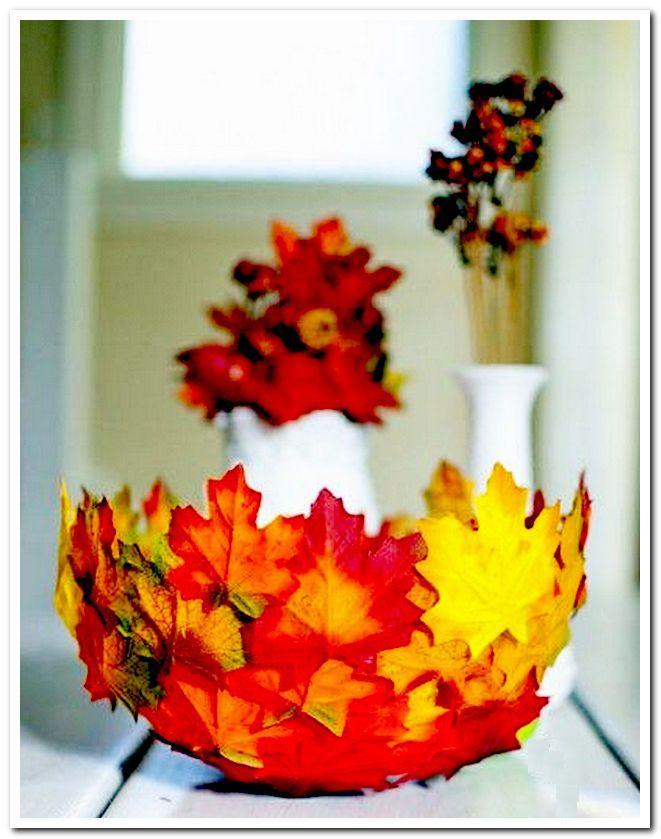Чаша из осенних листьев
