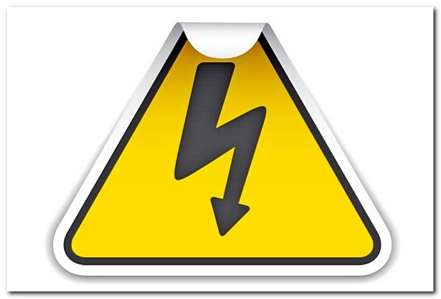 Знак электрической опасности
