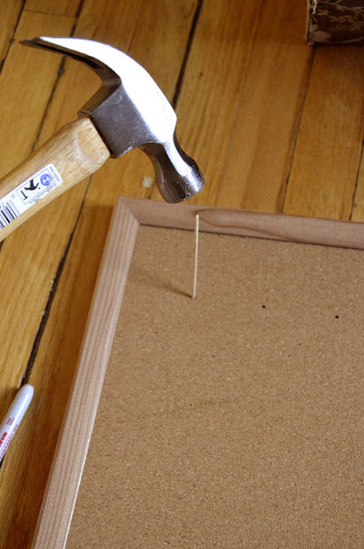 Thread Organizer out of a Cork Board and Toothpicks