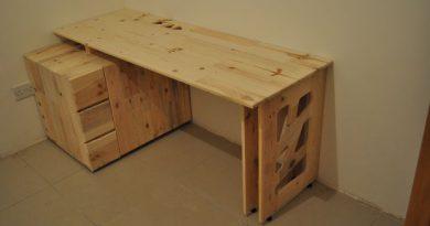 Как построить стол из старых поддонов.