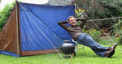 Кемпинговая палатка из вторсырья. Как сделать палатку из того, что под рукой.